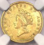 1854 TYPE 2 INDIAN GOLD DOLLAR G$1 COIN   NGC XF DETAILS EF    TYPE