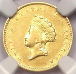 1854 TYPE 2 INDIAN GOLD DOLLAR G$1 COIN   NGC AU DETAILS      NICE LUSTER