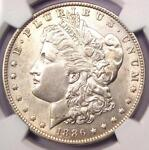 1886 O MORGAN SILVER DOLLAR $1   NGC AU DETAILS    DATE CERTIFIED COIN