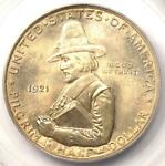 1921 PILGRIM HALF DOLLAR 50C   PCGS MS66 OGH HOLDER    IN MS66   NICE COIN