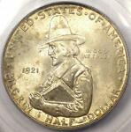 1921 PILGRIM HALF DOLLAR 50C COIN   PCGS MS66 PQ    IN MS66   $650 VALUE