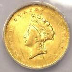 1855 TYPE 2 INDIAN GOLD DOLLAR G$1 COIN   ANACS VF30 DETAILS    DATE
