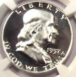 1957 PROOF FRANKLIN HALF DOLLAR 50C   NGC PR68 CAMEO PF68   $700 VALUE