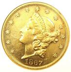 1867 LIBERTY GOLD DOUBLE EAGLE $20 COIN   ANACS UNCIRCULATED DETAILS UNC MS BU