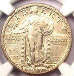 1917 S T2 STANDING LIBERTY QUARTER 25C COIN   NGC UNCIRCULATED DETAILS UNC MS