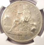 1873 CC TRADE SILVER DOLLAR T$1   NGC AU DETAILS CHOP MARK    CARSON CITY
