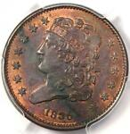 1835 CLASSIC HEAD HALF CENT 1/2C   PCGS UNCIRCULATED DETAIL UNC MS    COIN
