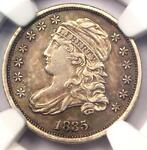 1835 CAPPED BUST DIME 10C   NGC AU DETAIL    EARLY DATE CERTIFIED COIN