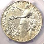 1915 S PANAMA PACIFIC HALF DOLLAR 50C COIN   PCGS UNCIRCULATED DETAILS UNC MS