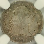 1794 FLOWING HAIR HALF DIME NGC VF30