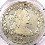1795 DRAPED BUST SILVER DOLLAR $1 COIN SMALL EAGLE   PCGS FINE DETAILS