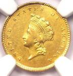 1854 TYPE 2 INDIAN GOLD DOLLAR  G$1 COIN    NGC AU DETAILS    TYPE