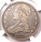 1836 REEDED EDGE CAPPED BUST HALF DOLLAR 50C GR 1   NGC VF DETAILS    DATE