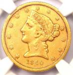 1840 D LIBERTY GOLD HALF EAGLE $5   NGC XF DETAILS    DAHLONEGA GOLD COIN