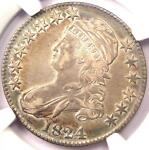 1824 CAPPED BUST HALF DOLLAR 50C   CERTIFIED NGC XF DETAILS  EF     COIN