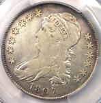 1807 SMALL STARS VARIETY CAPPED BUST HALF DOLLAR 50C COIN   PCGS FINE DETAILS