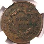1819 CORONET MATRON LARGE CENT 1C   NGC XF40  EF40     CERTIFIED COIN