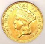 1878 THREE DOLLAR INDIAN GOLD COIN $3   CERTIFIED NGC XF DETAILS   LOOKS AU