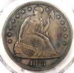 1873 PROOF SEATED LIBERTY SILVER DOLLAR $1   PCGS PROOF DETAILS  PR/PF