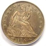 1853 O ARROWS & RAYS SEATED LIBERTY HALF DOLLAR 50C   CERTIFIED PCGS XF45  EF45