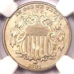 1881 SHIELD NICKEL  5C COIN    NGC UNCIRCULATED DETAILS  MS BU UNC     DATE