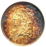 1835 CAPPED BUST HALF DIME H10C   ANACS AU55 DETAILS    CERTIFIED COIN