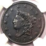 1834 CORONET MATRON LARGE CENT 1C   NGC XF DETAILS    CERTIFIED PENNY