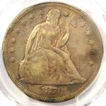 1870 CC SEATED LIBERTY DOLLAR $1   PCGS VF DETAILS    CARSON CITY COIN