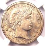 1914 S BARBER QUARTER 25C COIN   NGC UNCIRCULATED DETAILS  UNC MS     DATE