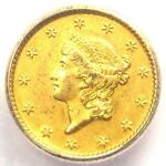 1850 O LIBERTY GOLD DOLLAR G$1   ICG MS61    NEW ORLEANS COIN   $3 240 VALUE