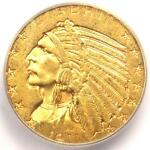1911 D INDIAN GOLD HALF EAGLE $5   ICG MS60    IN MS60   $7 800 GUIDE VALUE