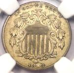 1883/2 SHIELD NICKEL 5C COIN FS 302 VARIETY   NGC AU58   $1 875 VALUE