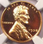 1938 PROOF LINCOLN WHEAT CENT 1C   NGC PR64 RD CAMEO CAC  PF64 CAM    $850 VALUE
