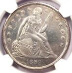 1859 O SEATED LIBERTY SILVER DOLLAR $1   NGC UNCIRCULATED DETAIL  UNC MS .