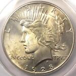 1928 PEACE SILVER DOLLAR $1   ANACS MS63    KEY DATE 1928 P   $950 VALUE