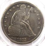 1872 S SEATED LIBERTY SILVER DOLLAR $1 COIN   PCGS VF DETAILS