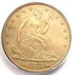 1873 ARROWS SEATED LIBERTY HALF DOLLAR 50C   CERTIFIED ICG MS63   $1 740 VALUE