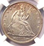 1873 ARROWS SEATED LIBERTY HALF DOLLAR 50C   NGC AU DETAILS    COIN