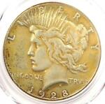 1928 PEACE SILVER DOLLAR $1   PCGS VF DETAILS    1928 P KEY DATE COIN