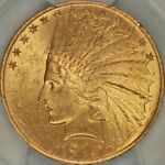 1910 $10 INDIAN EAGLE PCGS MS64