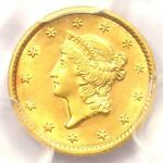 1852 LIBERTY GOLD DOLLAR COIN G$1   PCGS GENUINE   UNCIRCULATED DETAILS