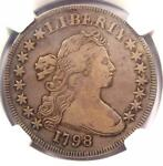 1798 SMALL EAGLE DRAPED BUST SILVER DOLLAR $1   NGC VF DETAILS    VARIETY