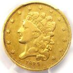 1834 CLASSIC GOLD HALF EAGLE $5   PCGS VF DETAIL    CERTIFIED GOLD COIN