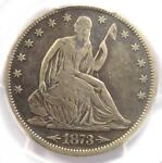 1873 CC ARROWS SEATED LIBERTY HALF DOLLAR 50C COIN   CERTIFIED PCGS FINE DETAIL