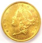 1870 S LIBERTY GOLD DOUBLE EAGLE $20 COIN   CERTIFIED ICG MS61   $7 500 VALUE