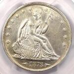 1873 ARROWS SEATED LIBERTY HALF DOLLAR 50C   CERTIFIED PCGS AU53    COIN