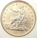 1877 S TRADE SILVER DOLLAR T$1   CERTIFIED ANACS AU DETAILS    COIN