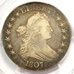 1807 DRAPED BUST HALF DOLLAR 50C COIN   CERTIFIED PCGS VF30   $900 VALUE
