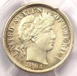 1894 O BARBER DIME 10C COIN   CERTIFIED PCGS XF DETAILS  EF     DATE