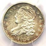 1834 CAPPED BUST DIME 10C   PCGS AU DETAILS    EARLY DATE   CERTIFIED COIN